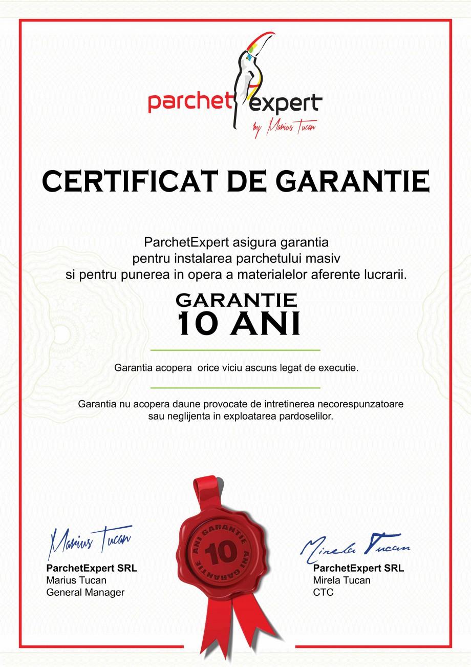 certificare produs certificat de garantie bauwerk parkett