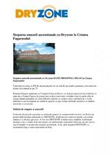 Stoparea umezelii ascensionale cu Dryzone la Cetatea Fagarasului c&a construct