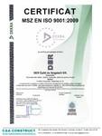 Certificat MZS EN ISO 9001:2009 c&a construct - DER POR