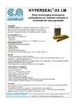 Parte thixotropica ermetizanta poliuretanica pentru imbinari verticale si orizontale ALCHIMICA - HYPERSEAL®-25LM