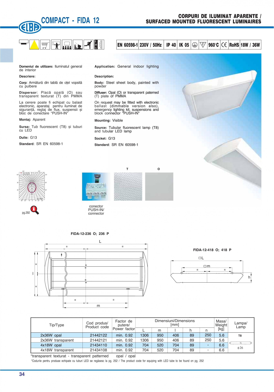 Pagina 1 - Corp aparent de iluminat ELBA-COM Fisa tehnica