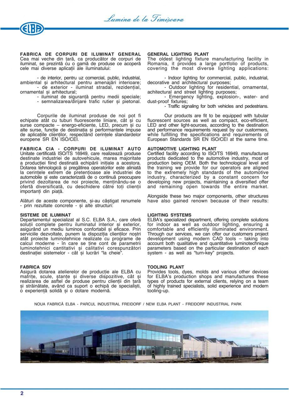 Pagina 5 - Catalog general de produse ELBA ELBA ECRAN CONTRAST, 3S2-TL-LED, 2S2-TL-LED, 3SC1-TL-LED,...