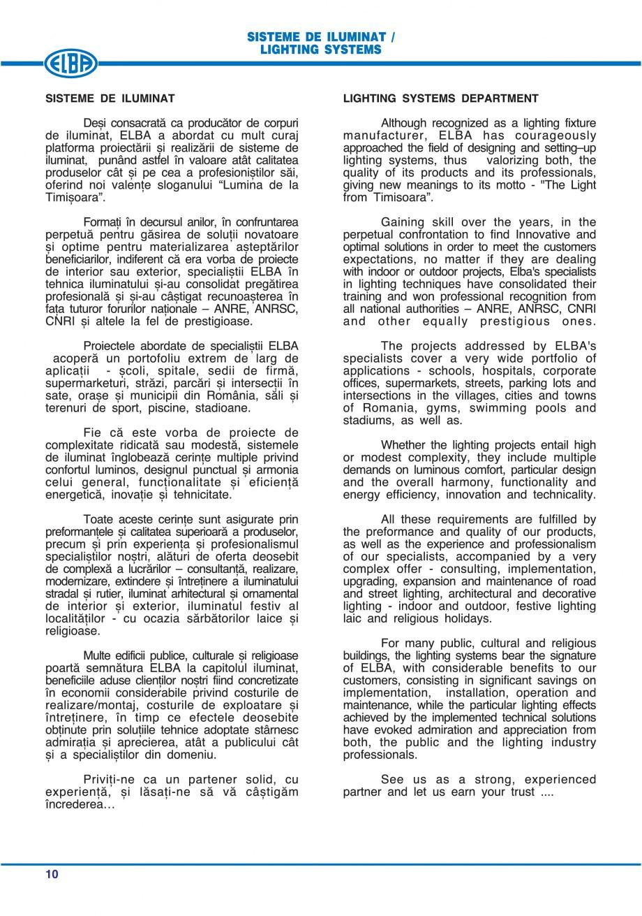 Pagina 16 - Catalog general de produse ELBA ELBA ECRAN CONTRAST, 3S2-TL-LED, 2S2-TL-LED, 3SC1-TL-LED...