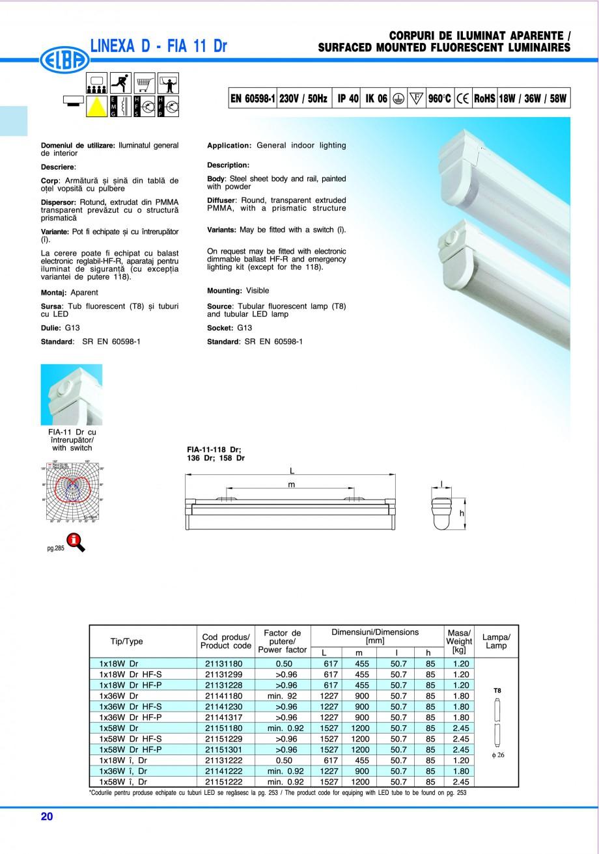 Pagina 26 - Catalog general de produse ELBA ELBA ECRAN CONTRAST, 3S2-TL-LED, 2S2-TL-LED, 3SC1-TL-LED...