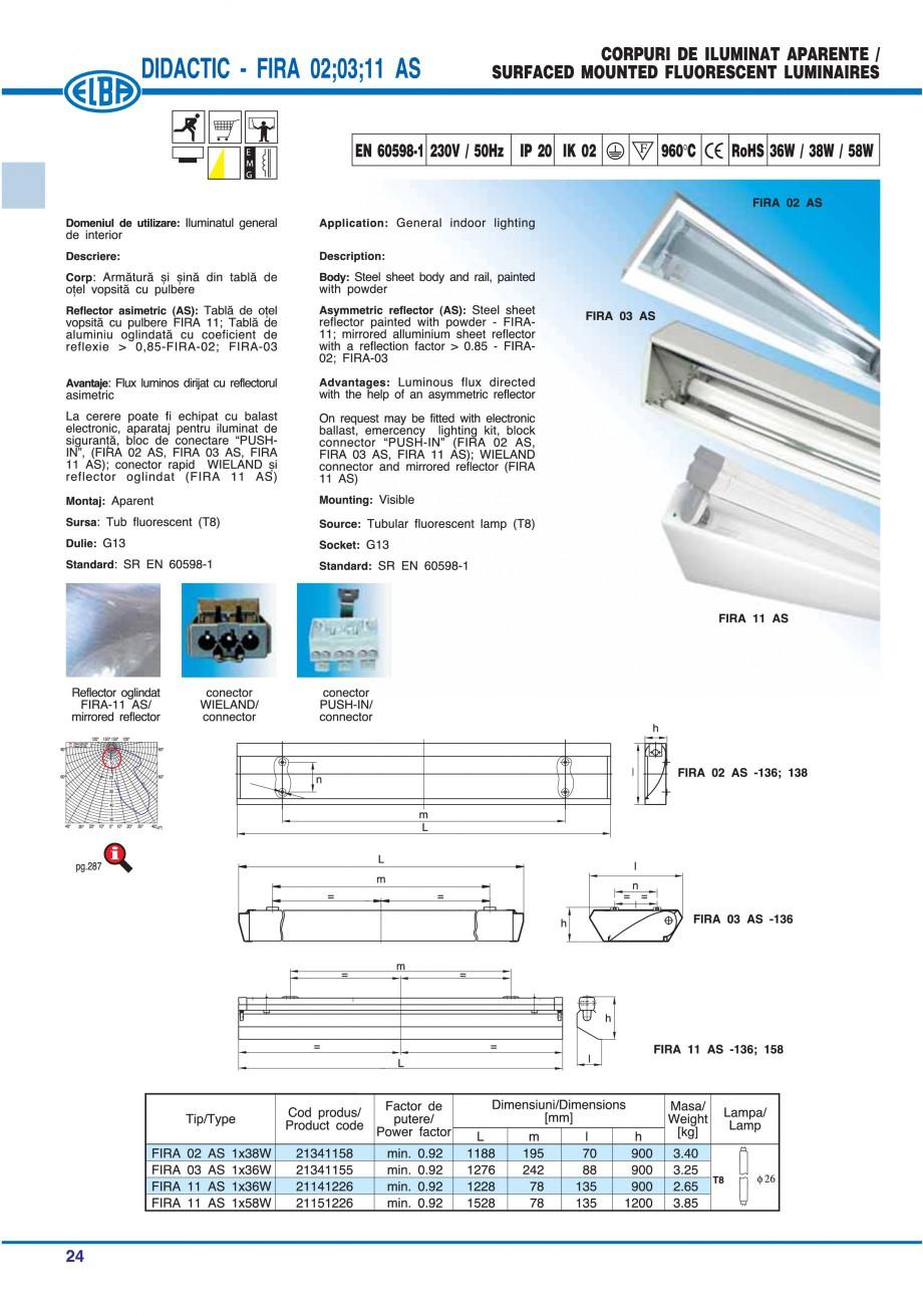 Pagina 30 - Catalog general de produse ELBA ELBA ECRAN CONTRAST, 3S2-TL-LED, 2S2-TL-LED, 3SC1-TL-LED...