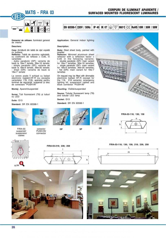 Pagina 32 - Catalog general de produse ELBA ELBA ECRAN CONTRAST, 3S2-TL-LED, 2S2-TL-LED, 3SC1-TL-LED...