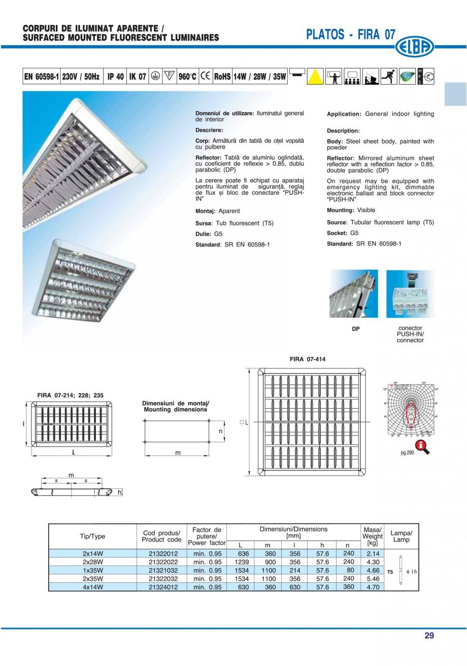 Pagina 35 - Catalog general de produse ELBA ELBA ECRAN CONTRAST, 3S2-TL-LED, 2S2-TL-LED, 3SC1-TL-LED...