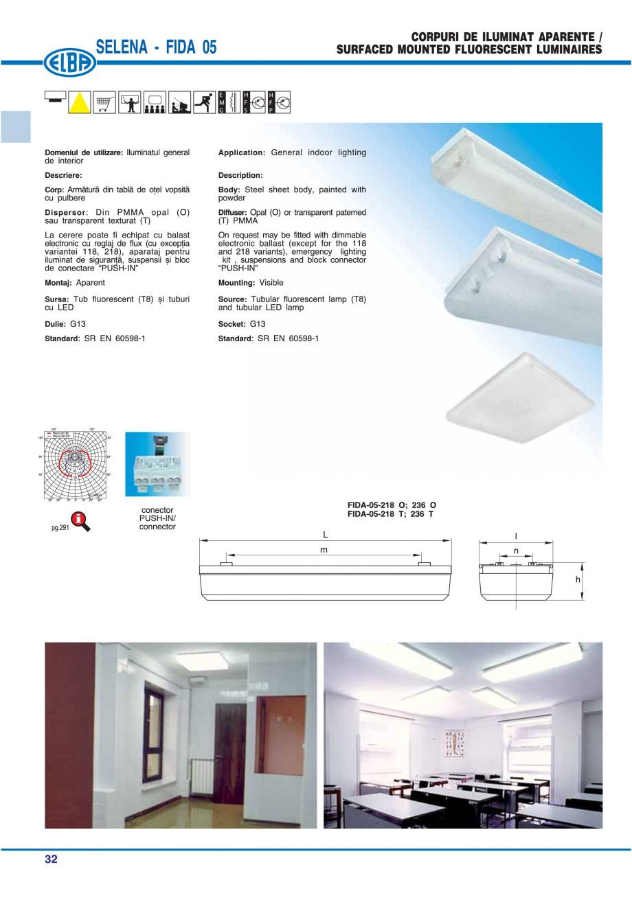 Pagina 38 - Catalog general de produse ELBA ELBA ECRAN CONTRAST, 3S2-TL-LED, 2S2-TL-LED, 3SC1-TL-LED...
