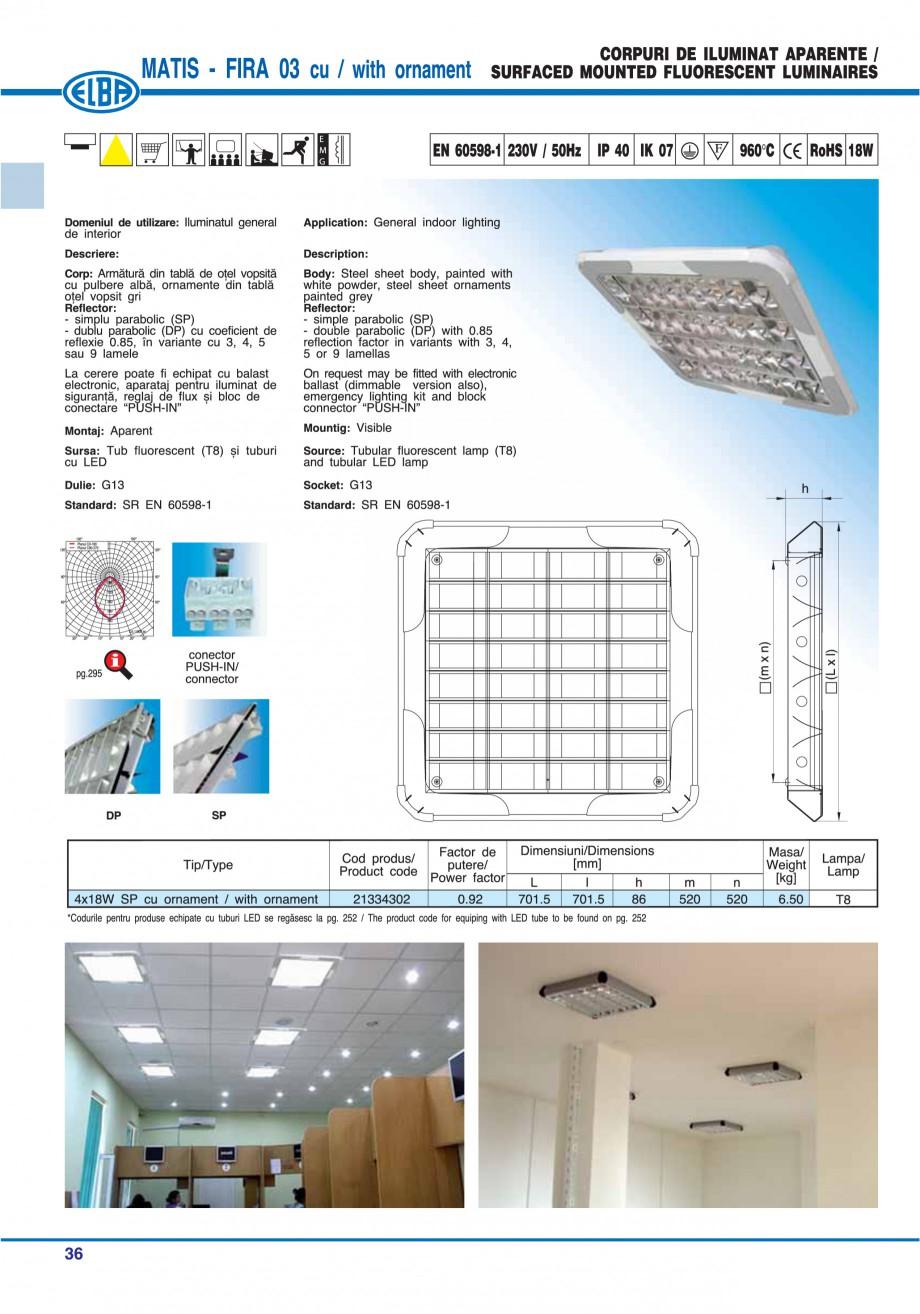 Pagina 42 - Catalog general de produse ELBA ELBA ECRAN CONTRAST, 3S2-TL-LED, 2S2-TL-LED, 3SC1-TL-LED...