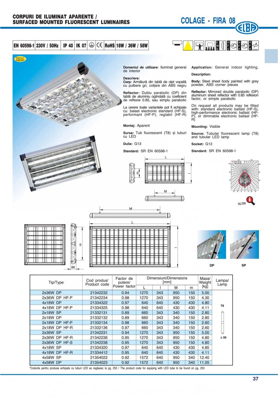 Pagina 43 - Catalog general de produse ELBA ELBA ECRAN CONTRAST, 3S2-TL-LED, 2S2-TL-LED, 3SC1-TL-LED...