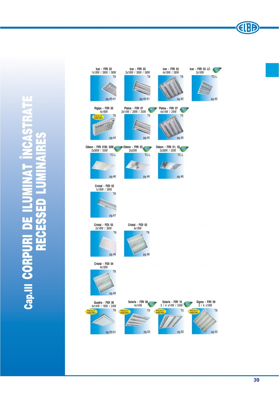 Pagina 45 - Catalog general de produse ELBA ELBA ECRAN CONTRAST, 3S2-TL-LED, 2S2-TL-LED, 3SC1-TL-LED...