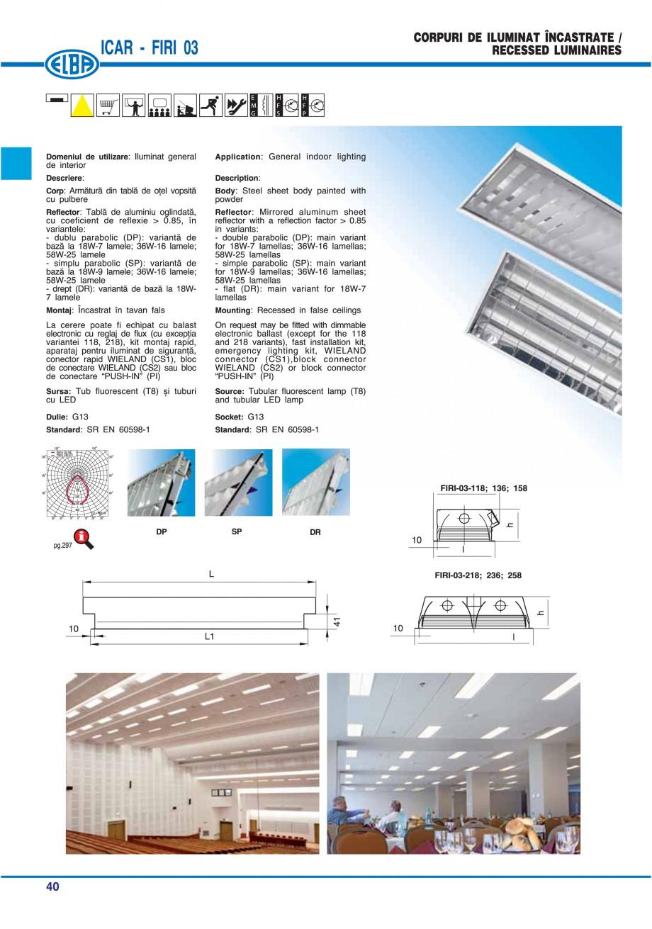 Pagina 46 - Catalog general de produse ELBA ELBA ECRAN CONTRAST, 3S2-TL-LED, 2S2-TL-LED, 3SC1-TL-LED...