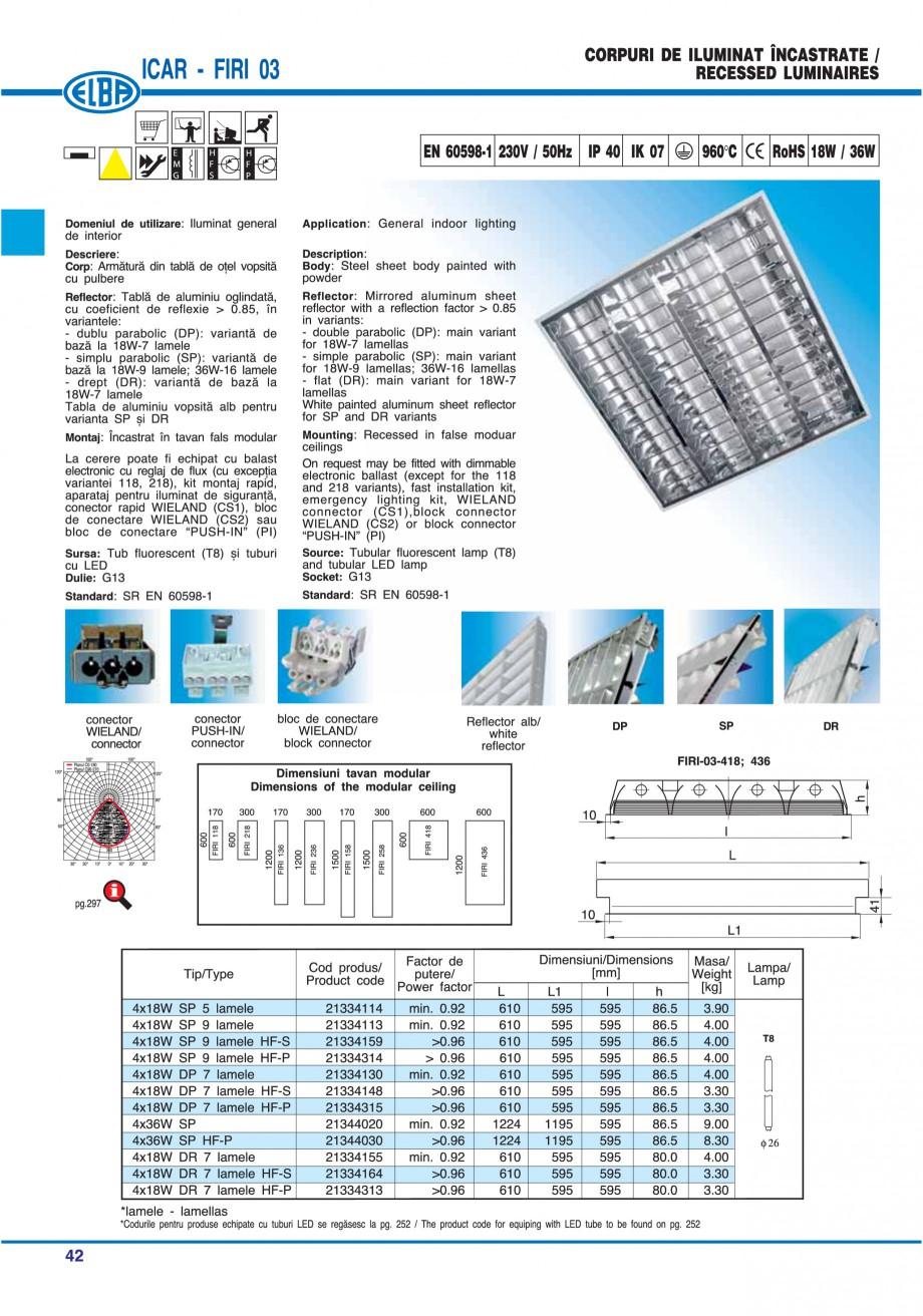 Pagina 48 - Catalog general de produse ELBA ELBA ECRAN CONTRAST, 3S2-TL-LED, 2S2-TL-LED, 3SC1-TL-LED...