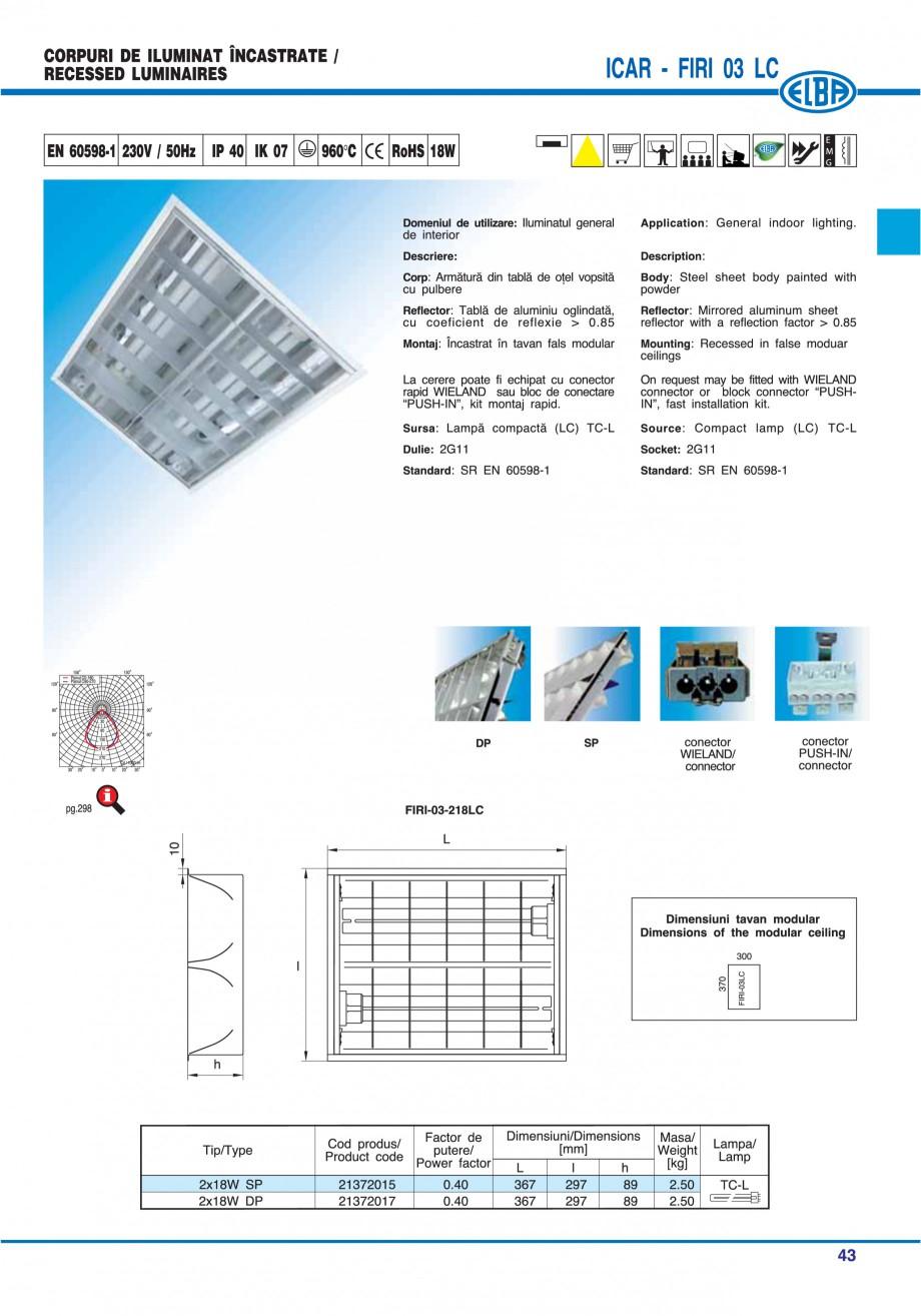 Pagina 49 - Catalog general de produse ELBA ELBA ECRAN CONTRAST, 3S2-TL-LED, 2S2-TL-LED, 3SC1-TL-LED...
