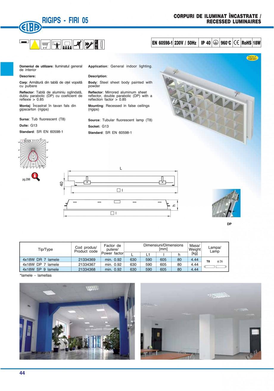 Pagina 50 - Catalog general de produse ELBA ELBA ECRAN CONTRAST, 3S2-TL-LED, 2S2-TL-LED, 3SC1-TL-LED...