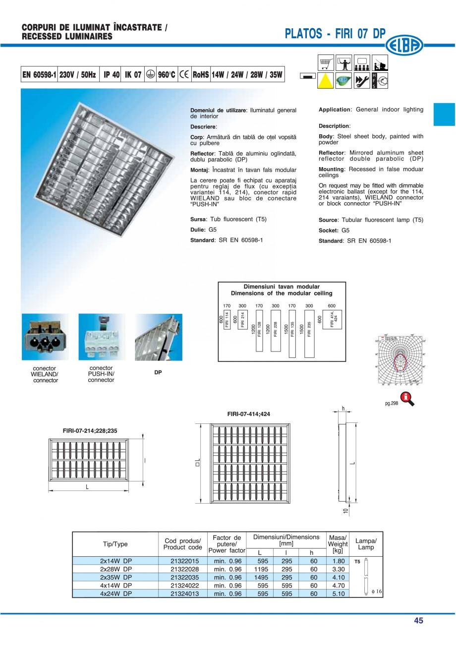 Pagina 51 - Catalog general de produse ELBA ELBA ECRAN CONTRAST, 3S2-TL-LED, 2S2-TL-LED, 3SC1-TL-LED...