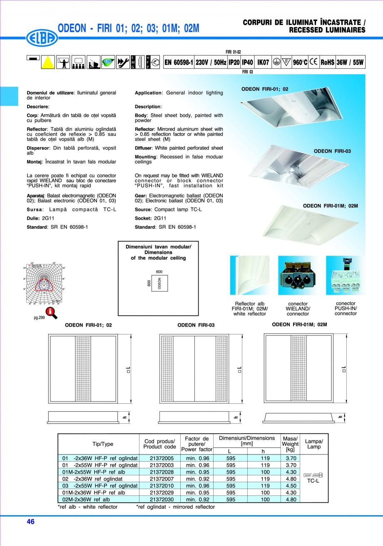 Pagina 52 - Catalog general de produse ELBA ELBA ECRAN CONTRAST, 3S2-TL-LED, 2S2-TL-LED, 3SC1-TL-LED...