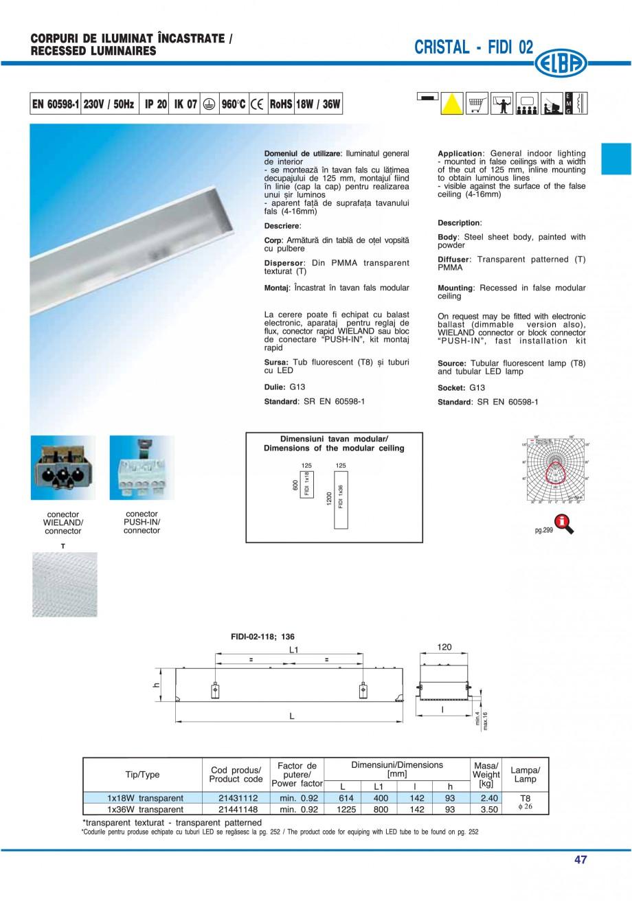 Pagina 53 - Catalog general de produse ELBA ELBA ECRAN CONTRAST, 3S2-TL-LED, 2S2-TL-LED, 3SC1-TL-LED...