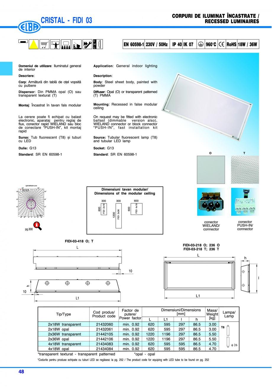 Pagina 54 - Catalog general de produse ELBA ELBA ECRAN CONTRAST, 3S2-TL-LED, 2S2-TL-LED, 3SC1-TL-LED...