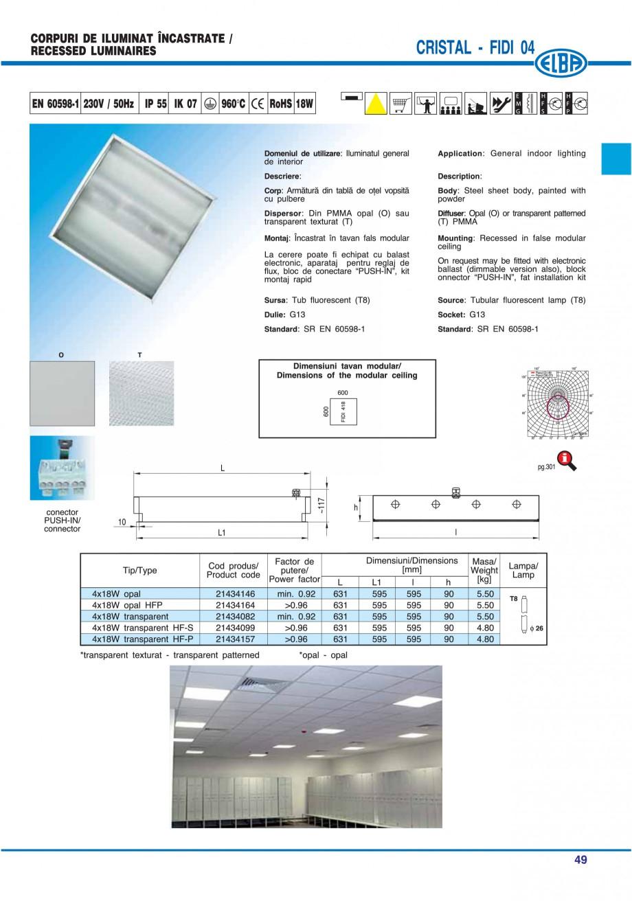 Pagina 55 - Catalog general de produse ELBA ELBA ECRAN CONTRAST, 3S2-TL-LED, 2S2-TL-LED, 3SC1-TL-LED...