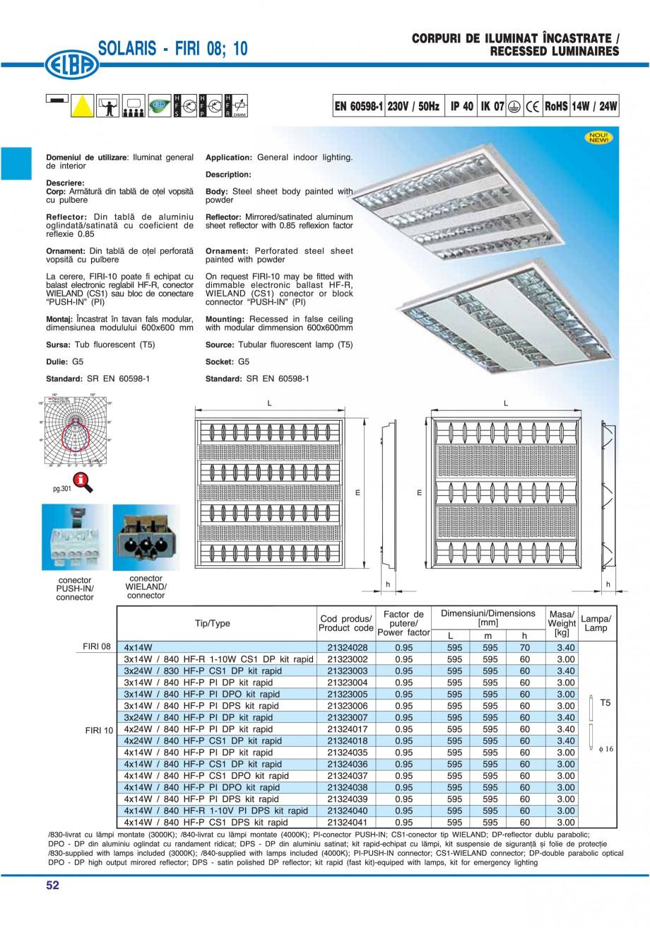 Pagina 58 - Catalog general de produse ELBA ELBA ECRAN CONTRAST, 3S2-TL-LED, 2S2-TL-LED, 3SC1-TL-LED...
