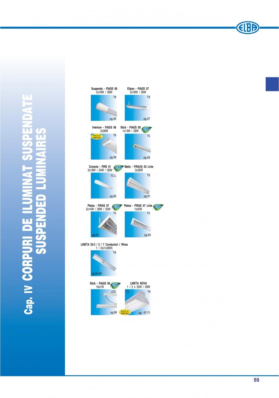 Pagina 61 - Catalog general de produse ELBA ELBA ECRAN CONTRAST, 3S2-TL-LED, 2S2-TL-LED, 3SC1-TL-LED...