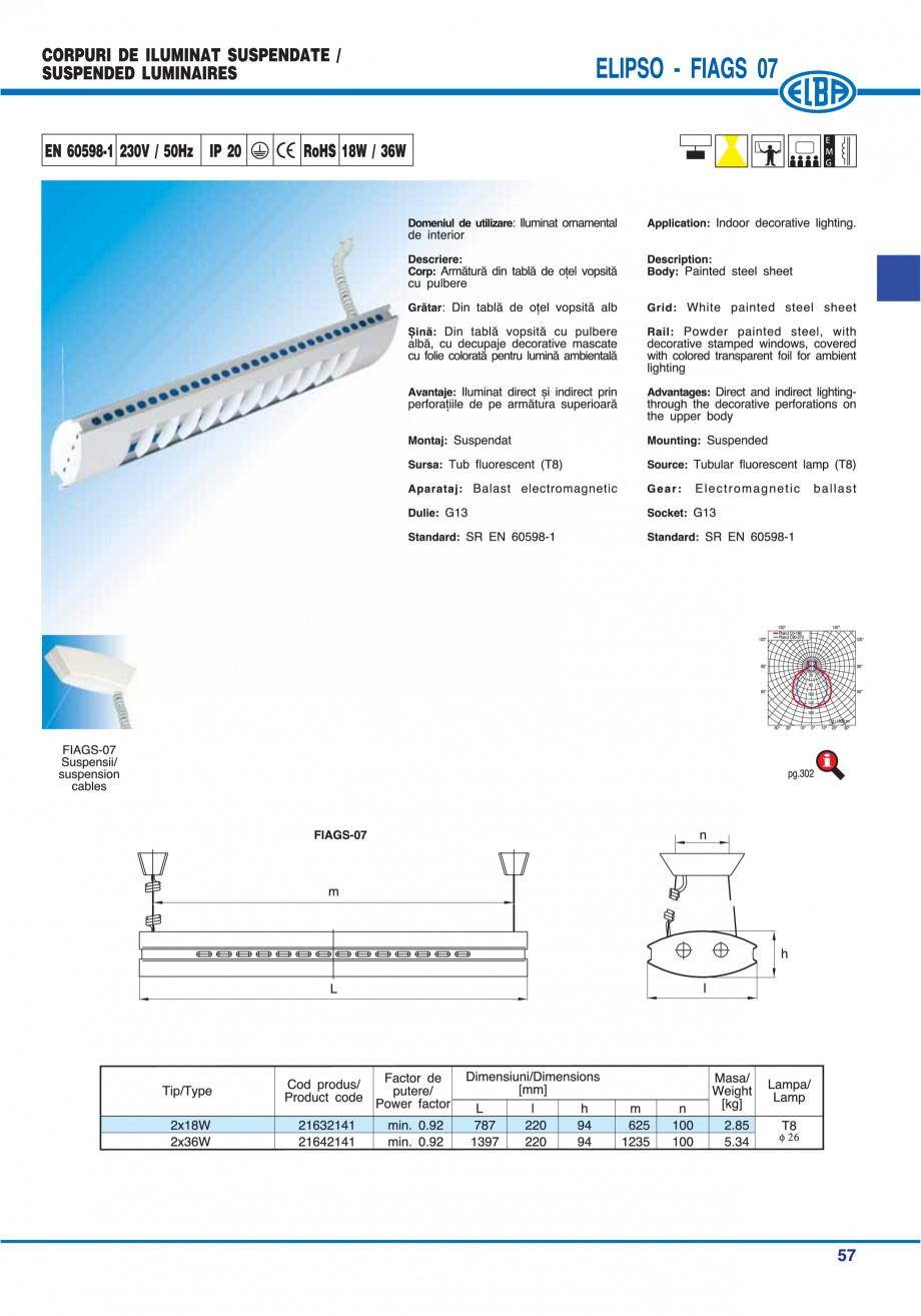 Pagina 63 - Catalog general de produse ELBA ELBA ECRAN CONTRAST, 3S2-TL-LED, 2S2-TL-LED, 3SC1-TL-LED...