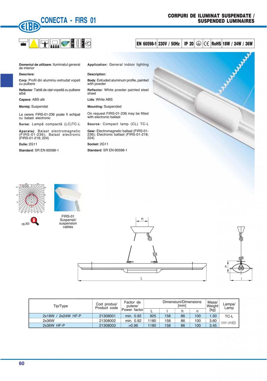 Pagina 66 - Catalog general de produse ELBA ELBA ECRAN CONTRAST, 3S2-TL-LED, 2S2-TL-LED, 3SC1-TL-LED...