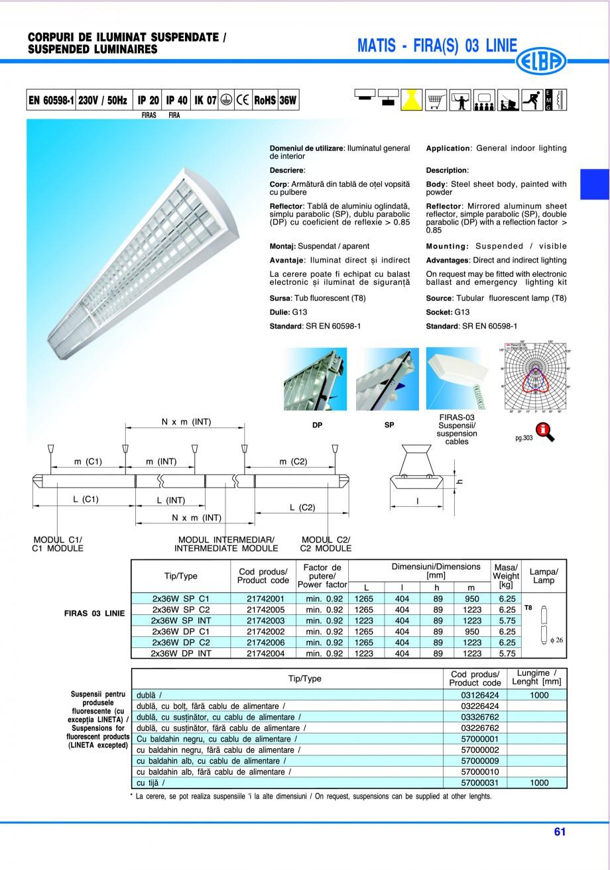 Pagina 67 - Catalog general de produse ELBA ELBA ECRAN CONTRAST, 3S2-TL-LED, 2S2-TL-LED, 3SC1-TL-LED...