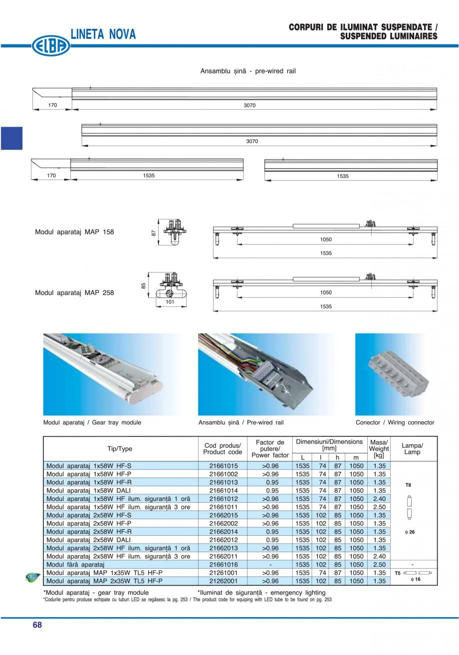 Pagina 74 - Catalog general de produse ELBA ELBA ECRAN CONTRAST, 3S2-TL-LED, 2S2-TL-LED, 3SC1-TL-LED...