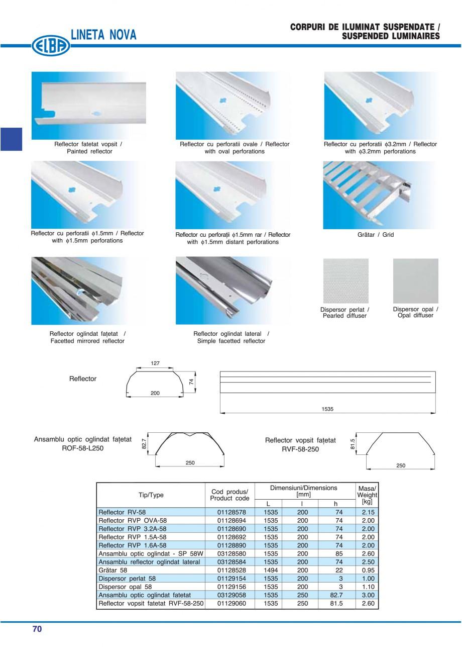 Pagina 76 - Catalog general de produse ELBA ELBA ECRAN CONTRAST, 3S2-TL-LED, 2S2-TL-LED, 3SC1-TL-LED...