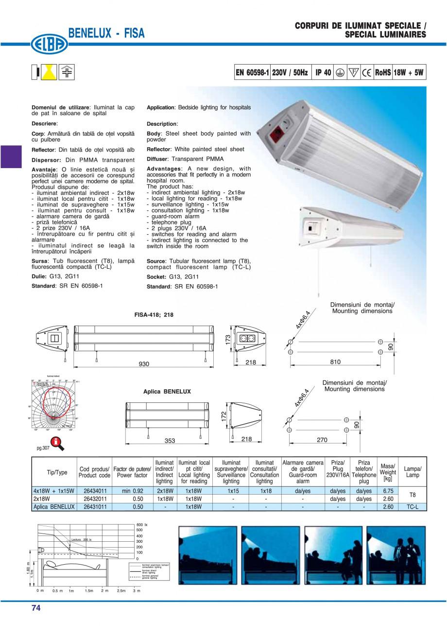 Pagina 80 - Catalog general de produse ELBA ELBA ECRAN CONTRAST, 3S2-TL-LED, 2S2-TL-LED, 3SC1-TL-LED...