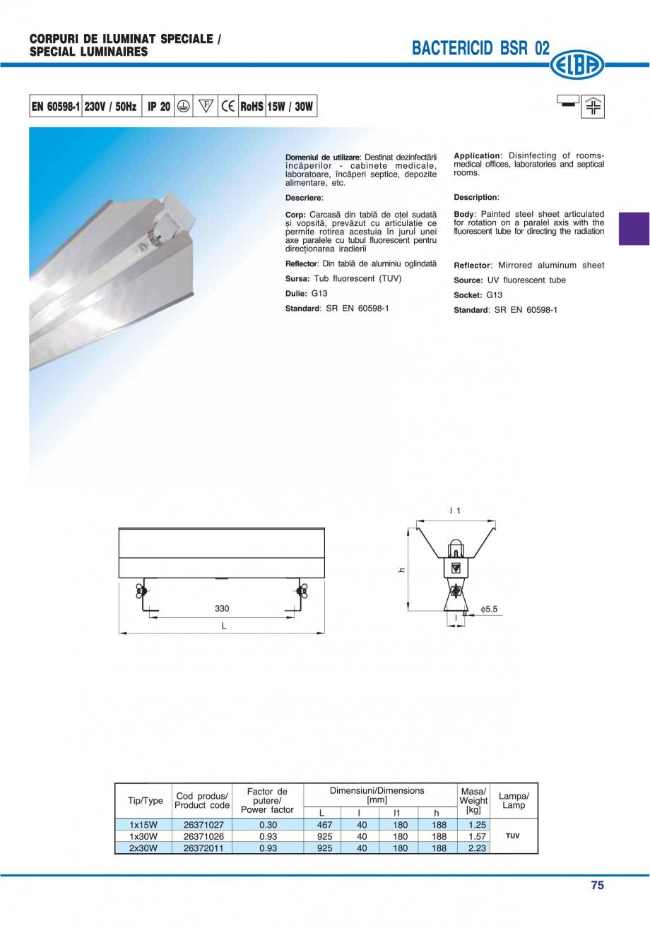 Pagina 81 - Catalog general de produse ELBA ELBA ECRAN CONTRAST, 3S2-TL-LED, 2S2-TL-LED, 3SC1-TL-LED...