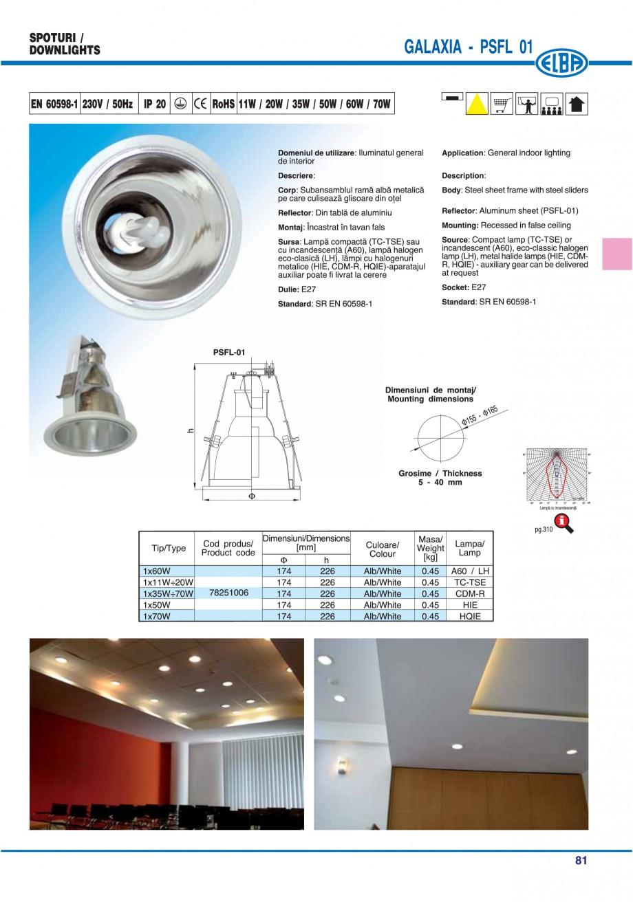 Pagina 87 - Catalog general de produse ELBA ELBA ECRAN CONTRAST, 3S2-TL-LED, 2S2-TL-LED, 3SC1-TL-LED...