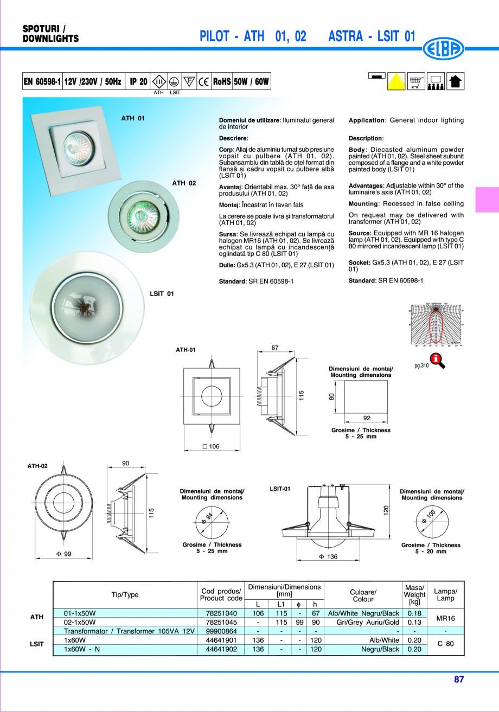Pagina 93 - Catalog general de produse ELBA ELBA ECRAN CONTRAST, 3S2-TL-LED, 2S2-TL-LED, 3SC1-TL-LED...