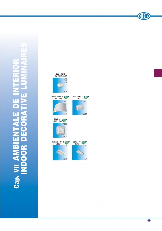 Pagina 95 - Catalog general de produse ELBA ELBA ECRAN CONTRAST, 3S2-TL-LED, 2S2-TL-LED, 3SC1-TL-LED...