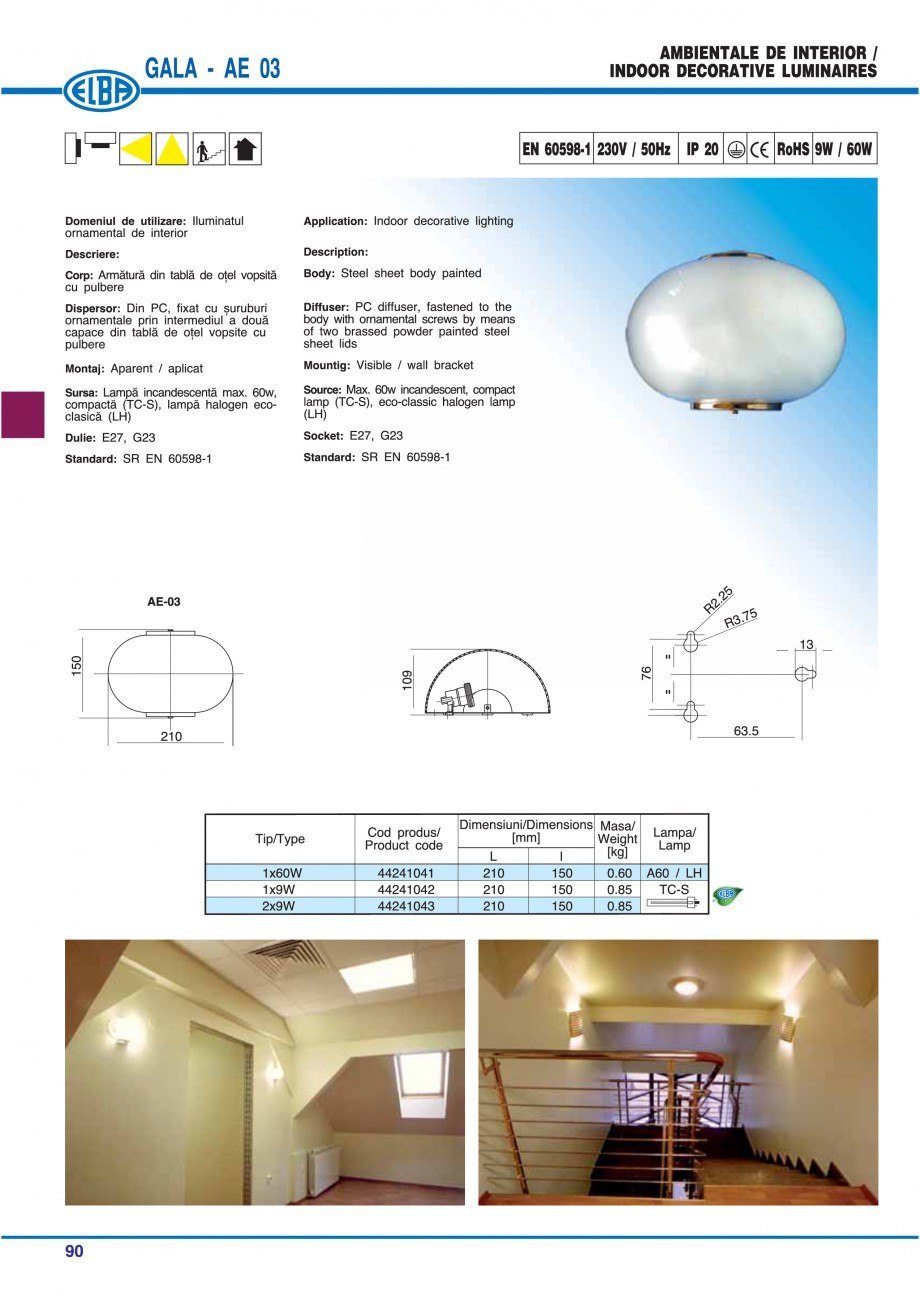 Pagina 96 - Catalog general de produse ELBA ELBA ECRAN CONTRAST, 3S2-TL-LED, 2S2-TL-LED, 3SC1-TL-LED...