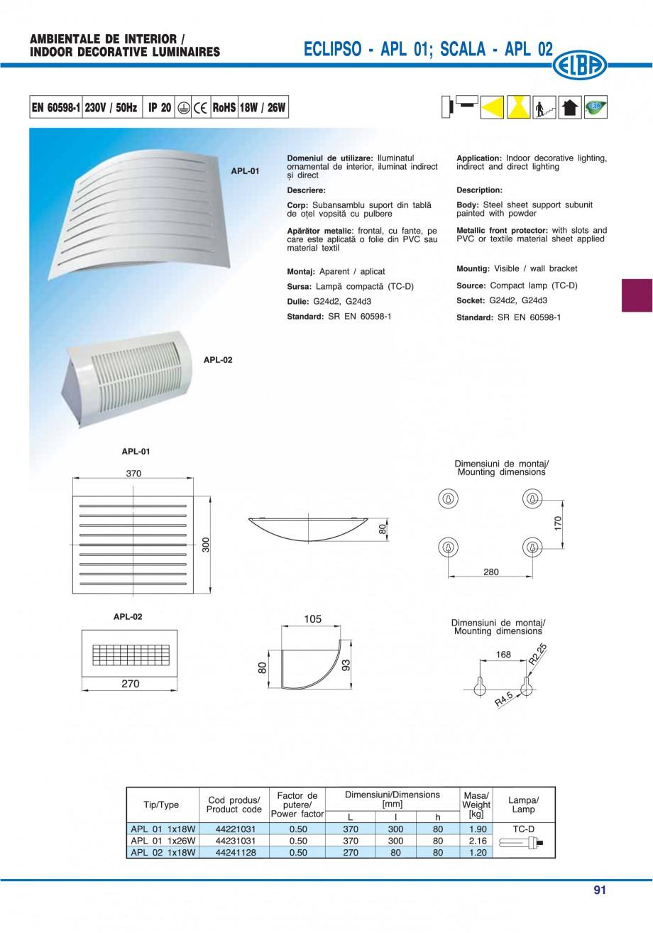 Pagina 97 - Catalog general de produse ELBA ELBA ECRAN CONTRAST, 3S2-TL-LED, 2S2-TL-LED, 3SC1-TL-LED...