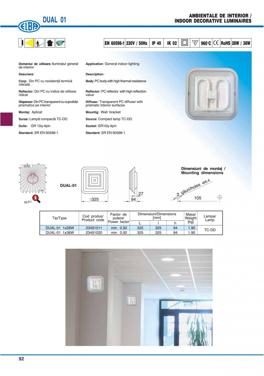 Pagina 98 - Catalog general de produse ELBA ELBA ECRAN CONTRAST, 3S2-TL-LED, 2S2-TL-LED, 3SC1-TL-LED...