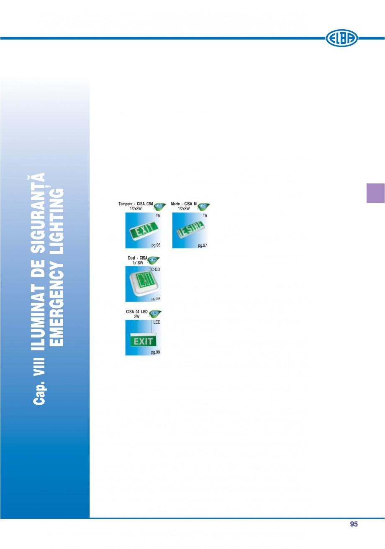 Pagina 101 - Catalog general de produse ELBA ELBA ECRAN CONTRAST, 3S2-TL-LED, 2S2-TL-LED,...