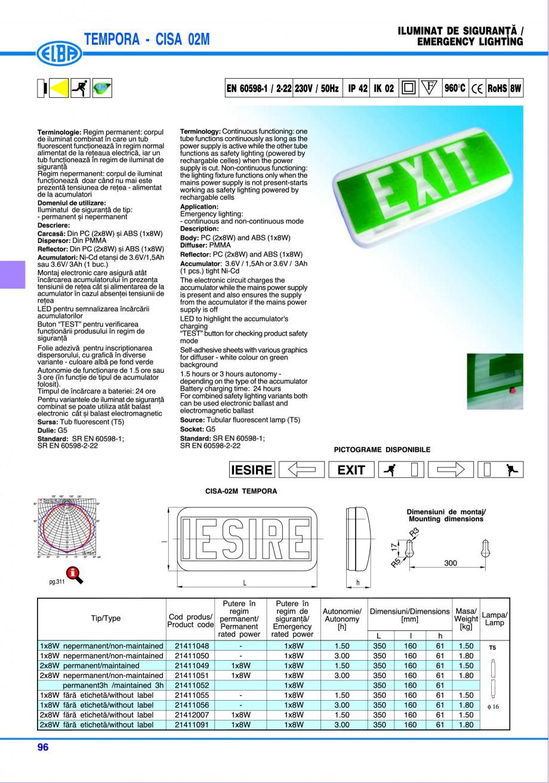Pagina 102 - Catalog general de produse ELBA ELBA ECRAN CONTRAST, 3S2-TL-LED, 2S2-TL-LED,...