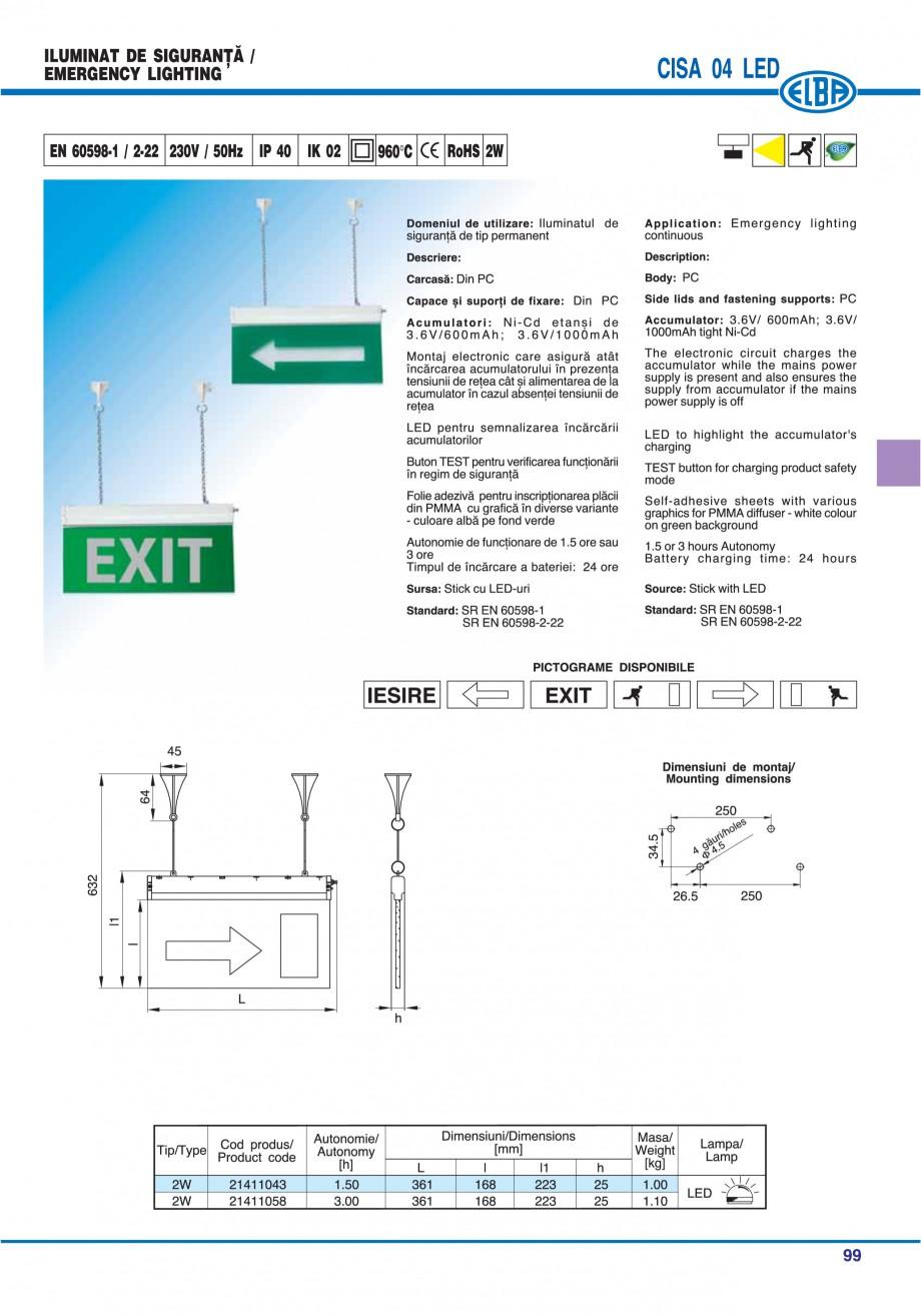 Pagina 103 - Catalog general de produse ELBA ELBA ECRAN CONTRAST, 3S2-TL-LED, 2S2-TL-LED,...