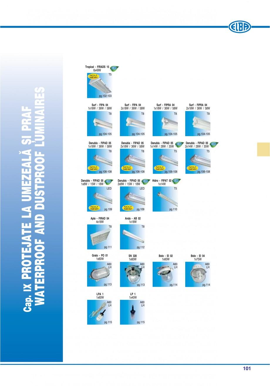Pagina 105 - Catalog general de produse ELBA ELBA ECRAN CONTRAST, 3S2-TL-LED, 2S2-TL-LED,...