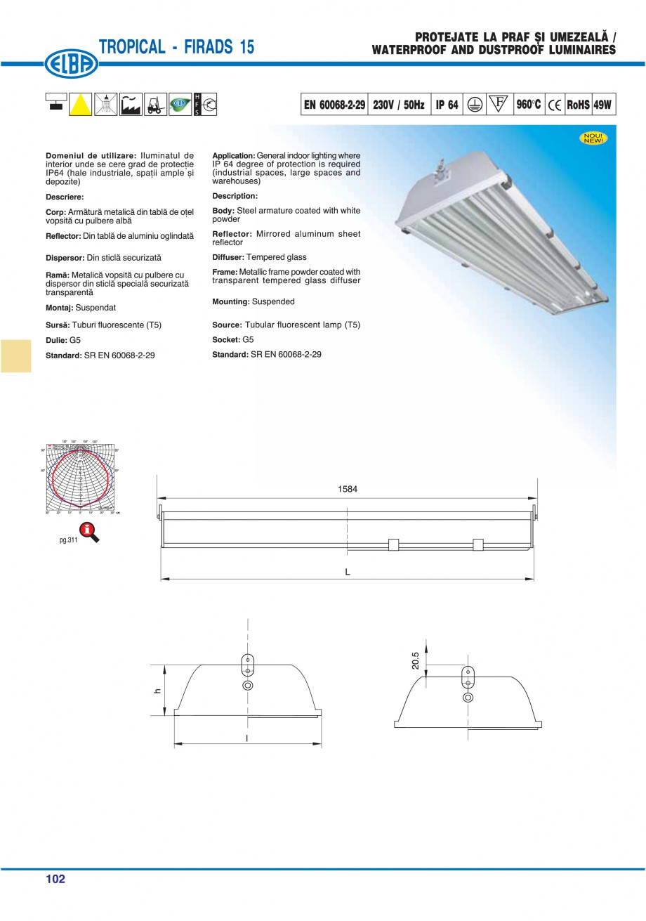 Pagina 106 - Catalog general de produse ELBA ELBA ECRAN CONTRAST, 3S2-TL-LED, 2S2-TL-LED,...