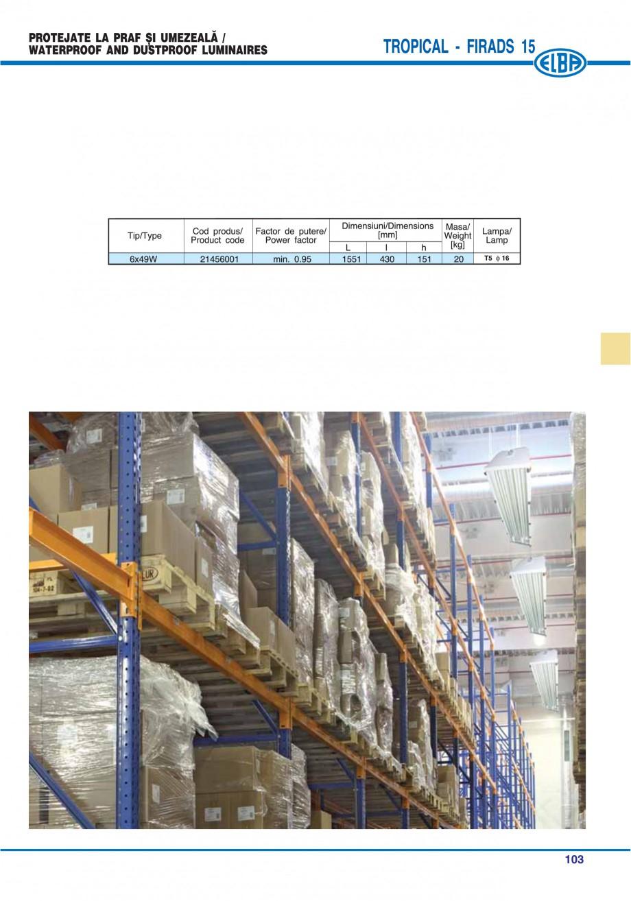 Pagina 107 - Catalog general de produse ELBA ELBA ECRAN CONTRAST, 3S2-TL-LED, 2S2-TL-LED,...