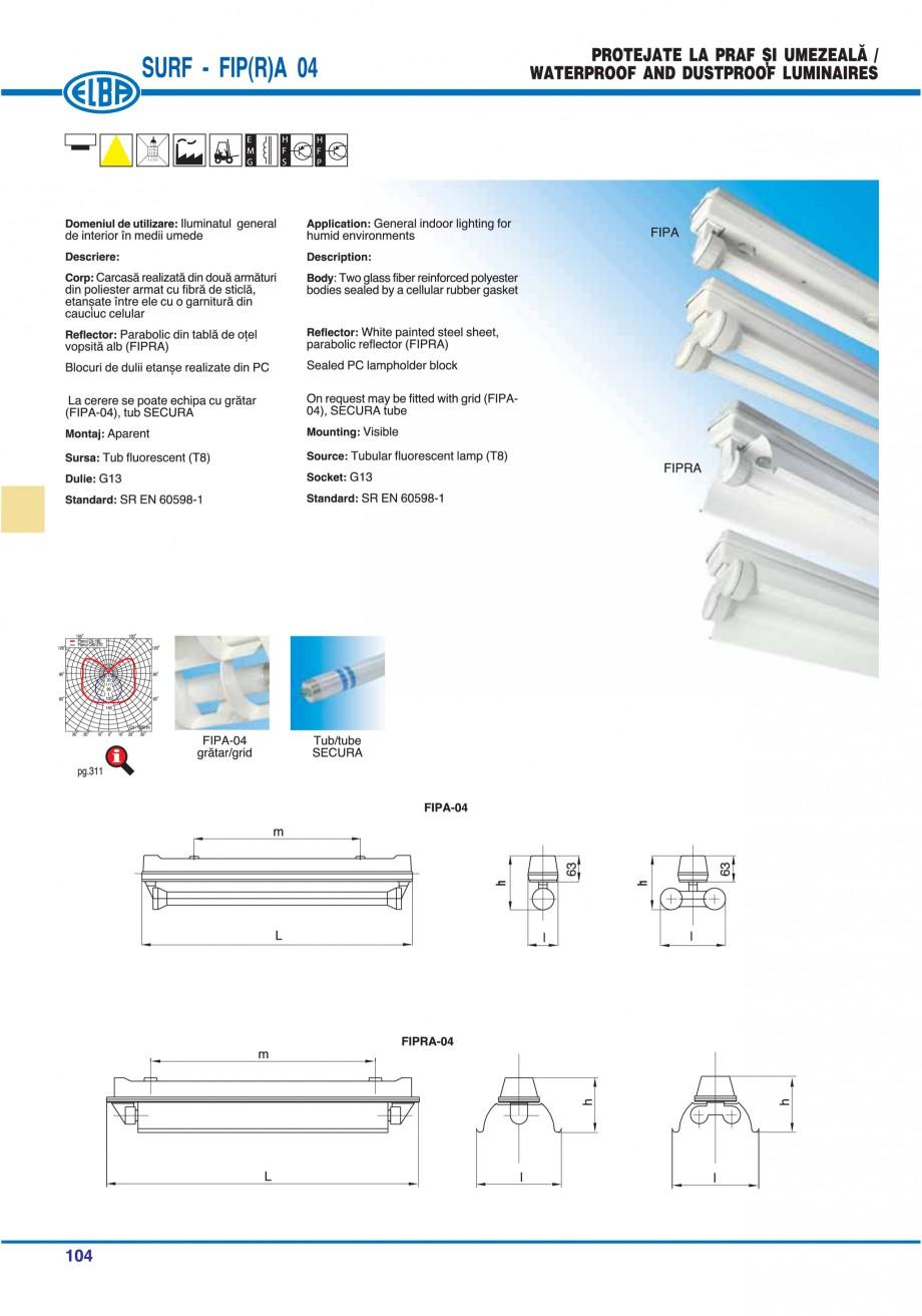 Pagina 108 - Catalog general de produse ELBA ELBA ECRAN CONTRAST, 3S2-TL-LED, 2S2-TL-LED,...