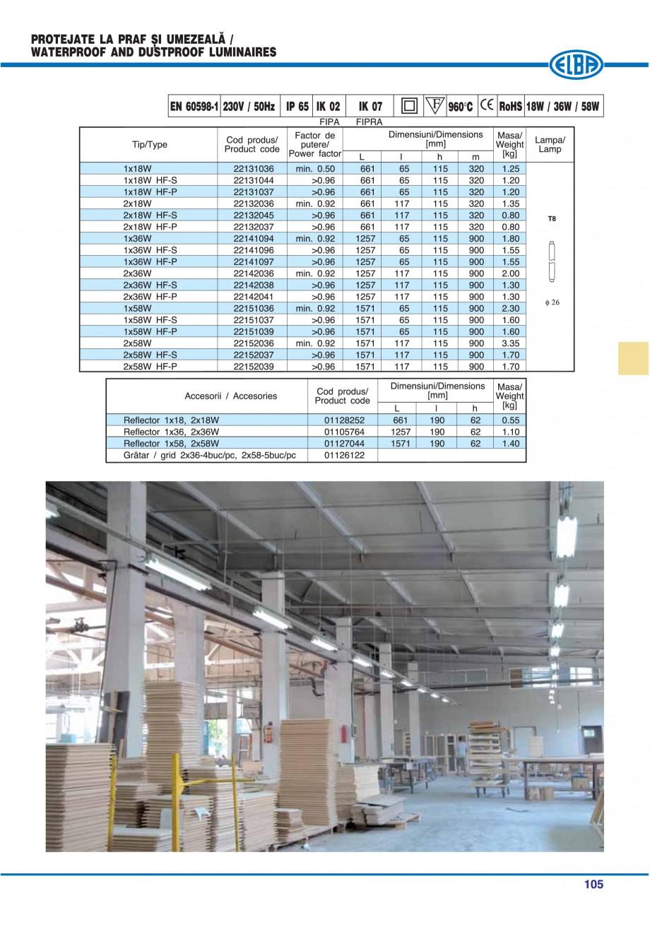 Pagina 109 - Catalog general de produse ELBA ELBA ECRAN CONTRAST, 3S2-TL-LED, 2S2-TL-LED,...
