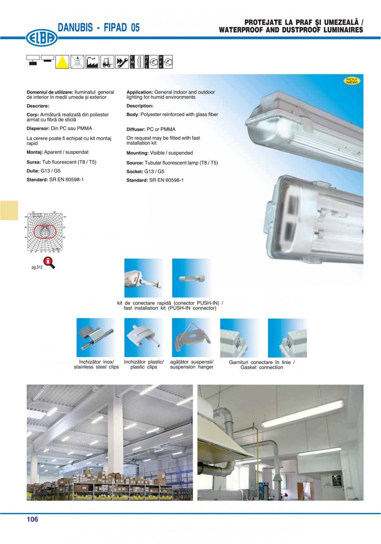 Pagina 110 - Catalog general de produse ELBA ELBA ECRAN CONTRAST, 3S2-TL-LED, 2S2-TL-LED,...