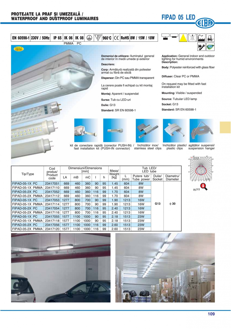 Pagina 112 - Catalog general de produse ELBA ELBA ECRAN CONTRAST, 3S2-TL-LED, 2S2-TL-LED,...