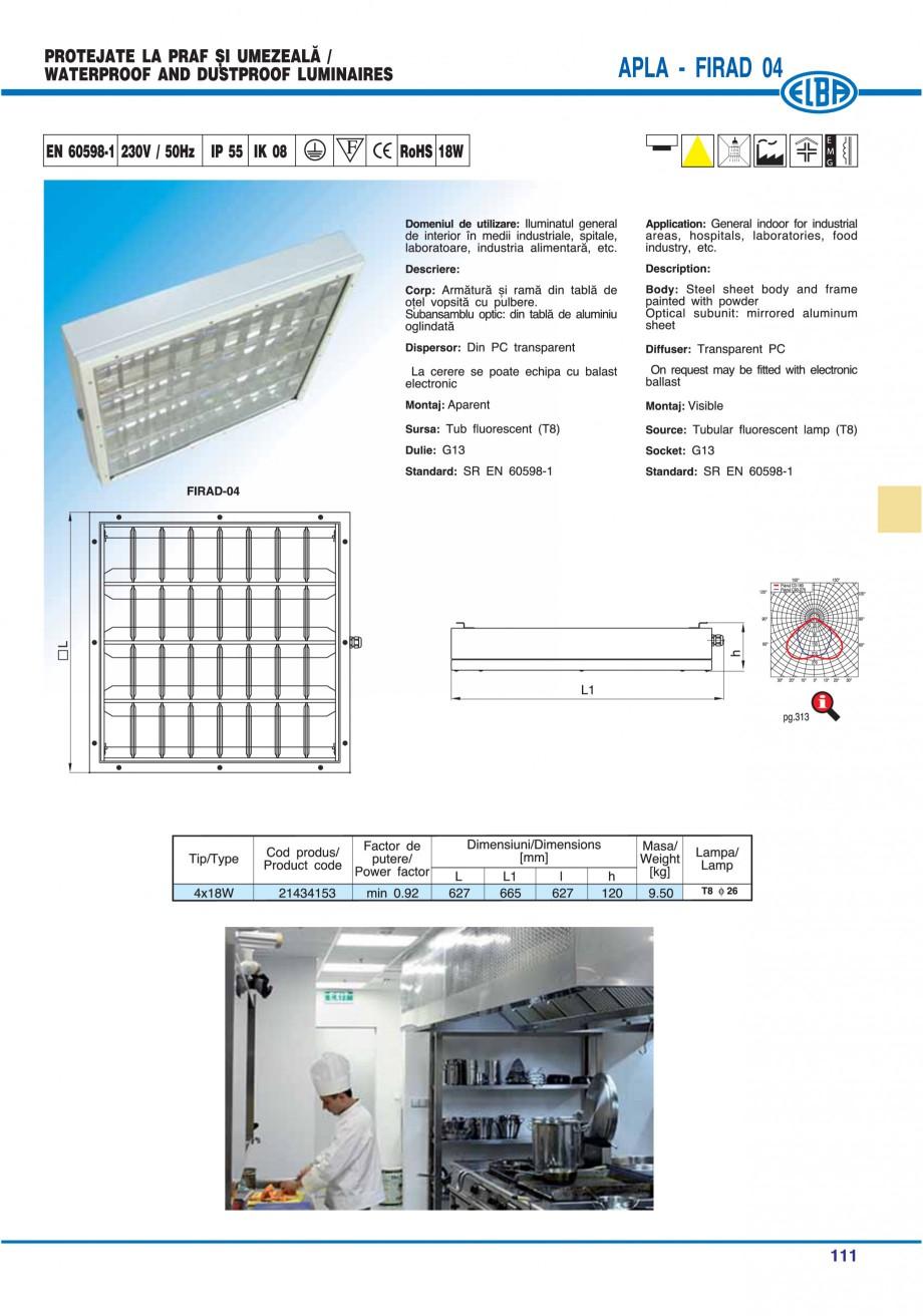 Pagina 114 - Catalog general de produse ELBA ELBA ECRAN CONTRAST, 3S2-TL-LED, 2S2-TL-LED,...